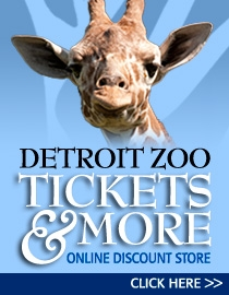 Graphic advertising Zoo ticket sales with a picture of a giraffe