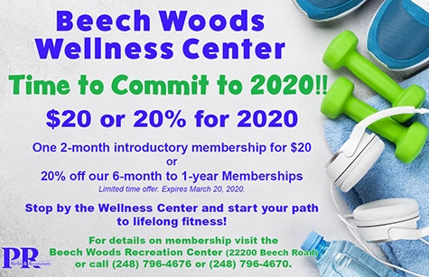 Beech Woods Wellness Center 2020 Promotion