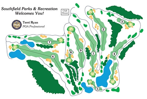 Evergreen Hills Golf Course Layout