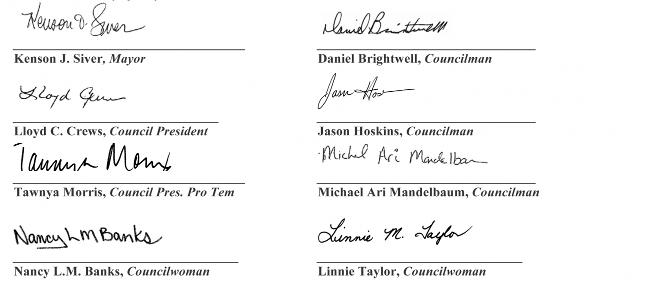Joint Resolution Signatures
